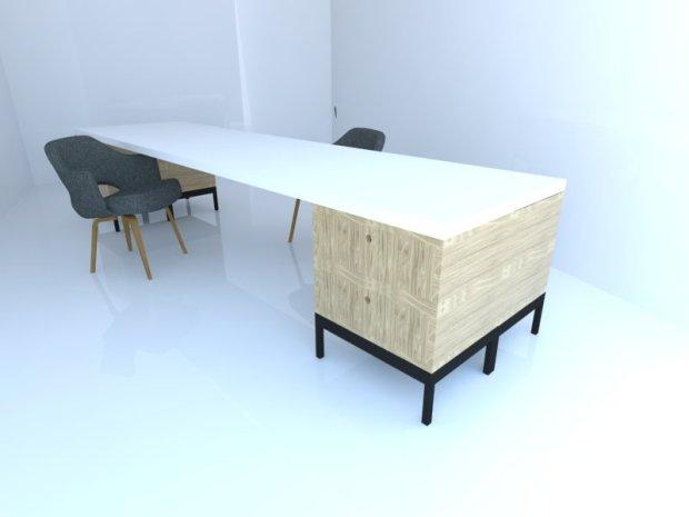 Modular desk double