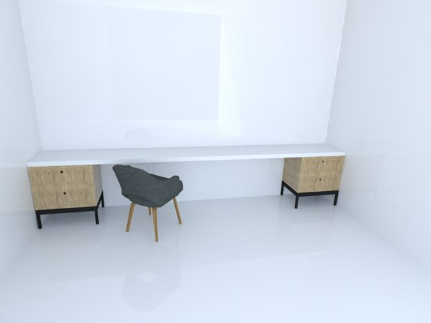 Modular desk single
